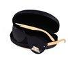 Okulary Drewniane Polaryzacyjne Przeciwsłoneczne Kocie Oczy Lustrzanki